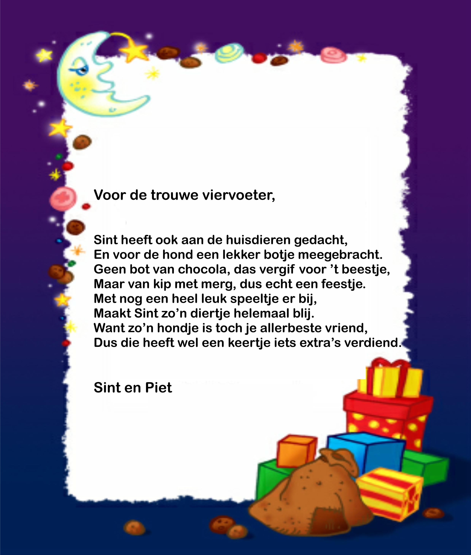 Sinterklaas Gedichtpapier Pakjesavond Sint En Piet Surprise